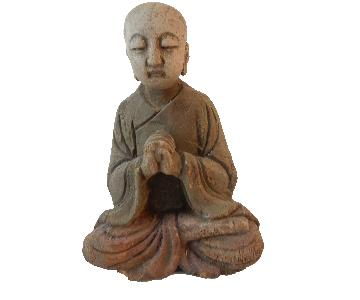 Old Wooden Greeting Buddha