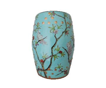 Turquoise Garden Stool/Table