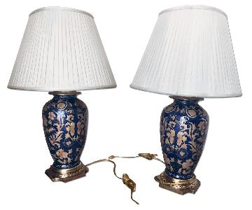 Frederick Cooper Antique Hand Painted Lamps