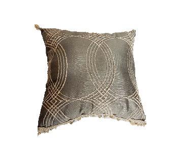 Gray Lumbar Silk Custom Made Pillow