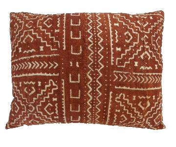Custom Made Mali Mud Cloth Bogolan Lumbar Pillow