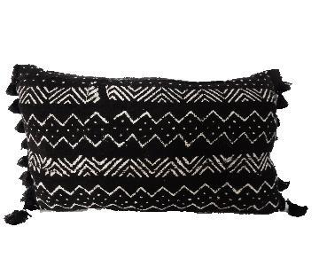 African Custom Made Lumbar Mud Cloth Pillow