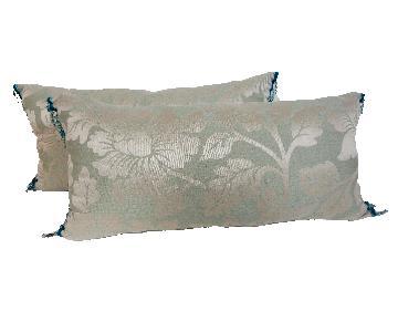 Custom Made Brocade Lumbar Pillows