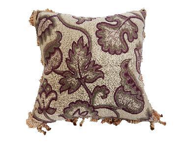 Custom Made Square Jacquard & Silk Pillow