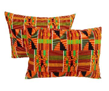 African Kente Cloth Colorful Pillows