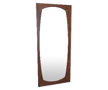 CB2 Teak Mirror