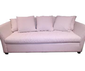Klaussner Furniture Tripp White Down Filled Sofa