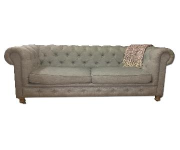 Restoration Hardware 3-Seater Sofa in Light Blue
