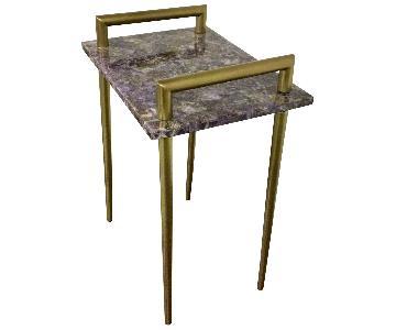 Amethyst Metal Handle Bar Table