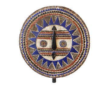 Cte DIvoire Baule Tribe Lg Moon Mask
