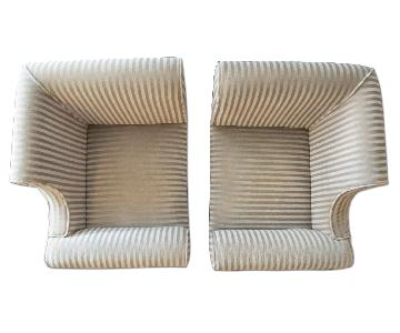 David Edward Natural Light Brown Mohair Chair