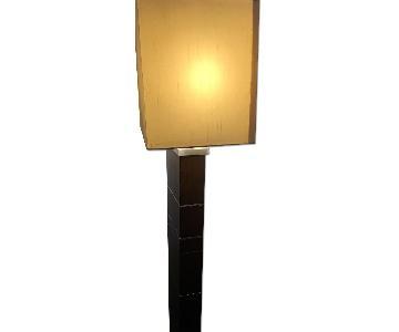 Crate & Barrel Solid Wood Floor Lamp