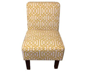 Target Yellow Pattern Armless Chair