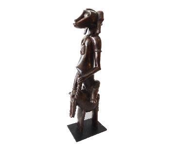 Senufo Horseman Cote D'Ivoire on Stand
