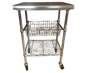 Seville Classics Stainless Steel Kitchen Workstation Cart