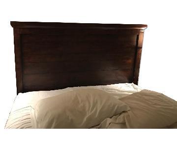 Pottery Barn Queen Bed Frame w/ Mason Headboard