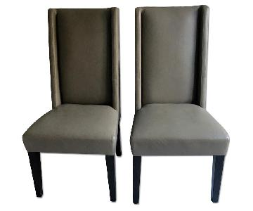West Elm Leather Dining Chairs
