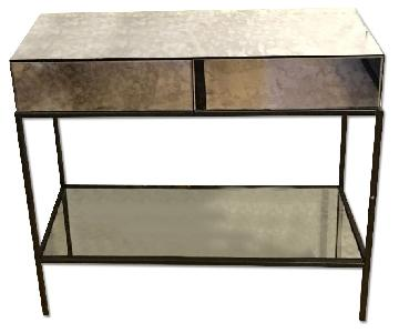 West Elm Mirrored Console Table