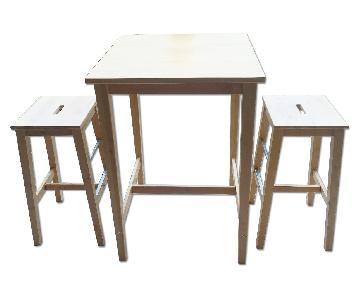 Ikea Bar Table w/ 2 Chairs