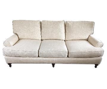 Lee Industries Cream Colored Sofa