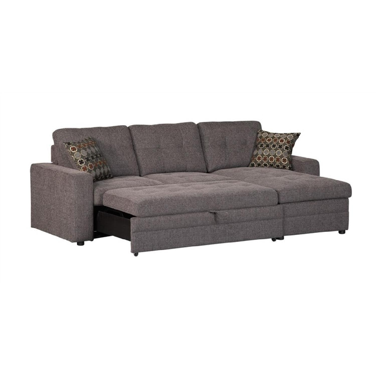 Modern Convertible Sectional Sleeper Sofa w/ Storage Chaise