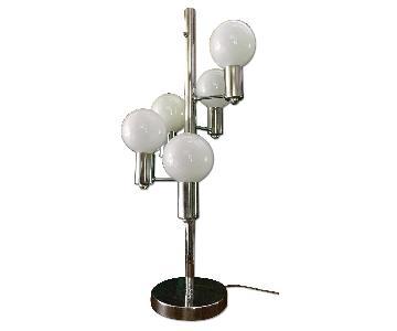 Mid Century Chrome Waterfall 5 Globe Lamp