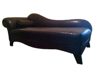 Leather Center Texas Custom Leather Chaise Lounge