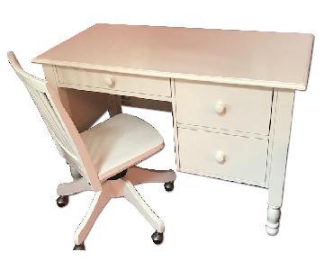 Pottery Barn Kids Catalina Desk w/ Carolina Swivel Desk Chair