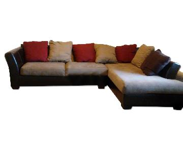 L-Shaped Autumn Color Sectional Sofa
