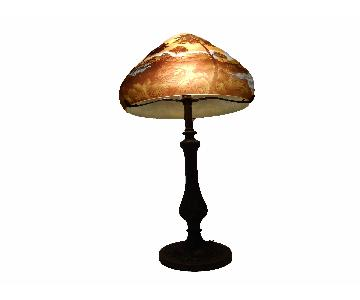 French Galle Style Bronze Table Lamp