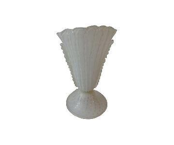 Murano Glass Table Lamp w/ Gold Flecks