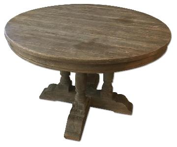 Restoration Hardware Weathered Round French Dining Table