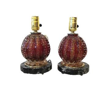 Barovier & Toso Glass Lamps
