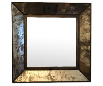 Crate & Barrel Beveled Antique Mirror