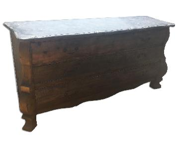 Restoration Hardware 18th C. Rococo Blue Stone Sideboard