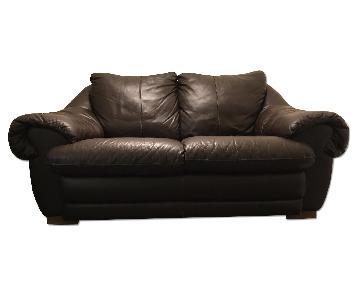 Nicoletti Marconi Brown Leather Sofa