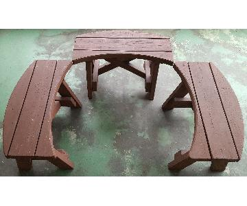 Crescent Outdoor Benches
