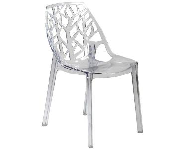 LeisureMod Cornelia Cut-Out Tree Design Modern Dining Chairs