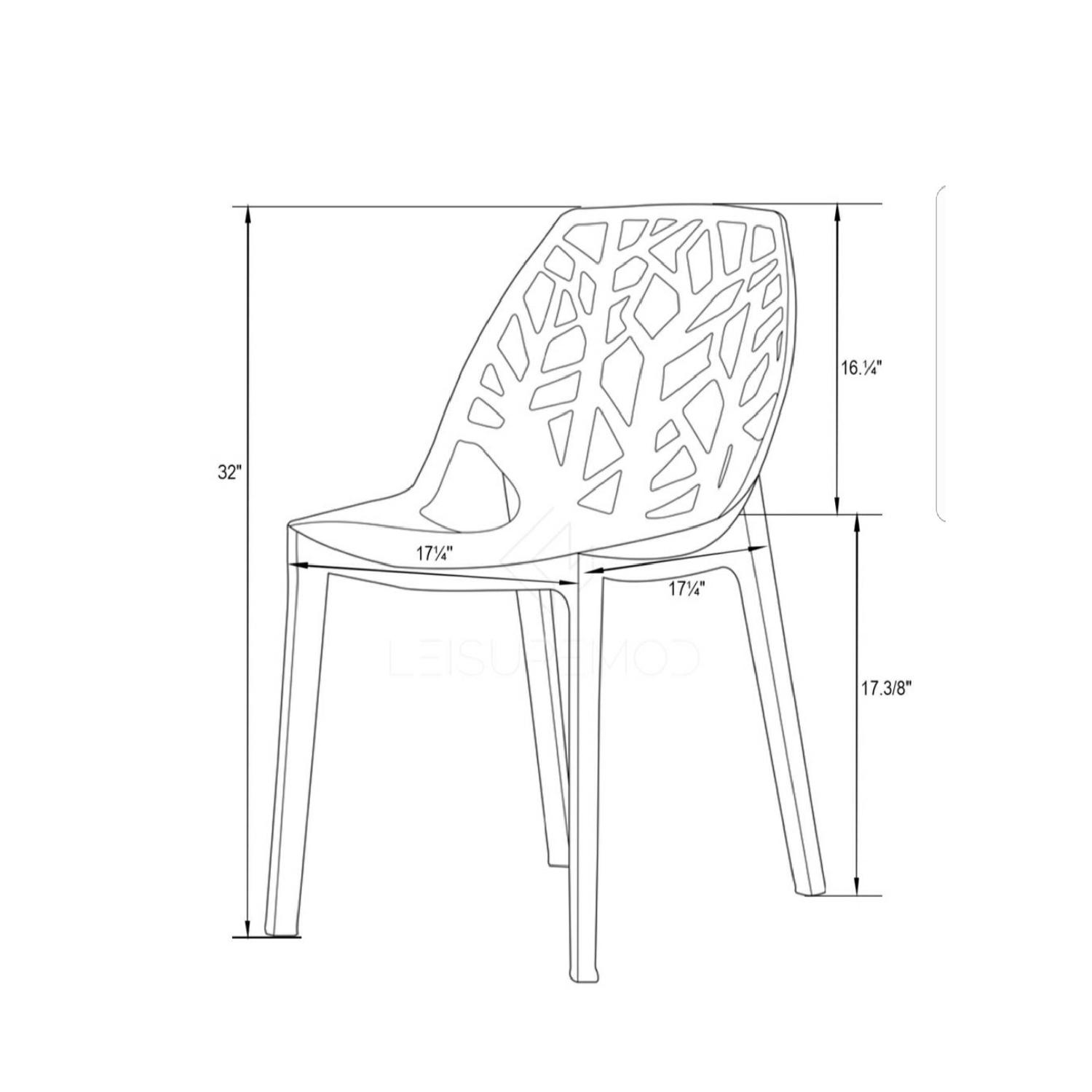 LeisureMod Cornelia Cut-Out Tree Design Modern Dining Chairs-4