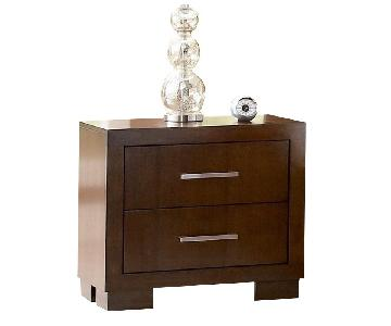 Contemporary Nightstand w/ Dovetail & Full Extension Drawers in Cappuccino Finish