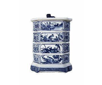 Blue & White Porcelain Stacked Boxes