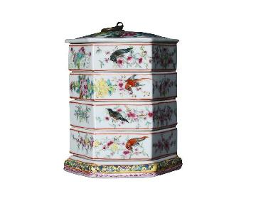 Famille Rose Style Stacking Boxes