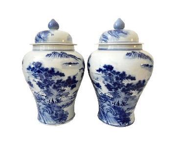 Blue & White Porcelain Ginger Jars