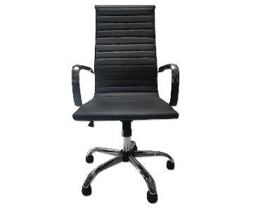 Mercury Row Dark Grey Faux Leather Office Chair