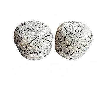 Black & White Mud Cloth Ottomans