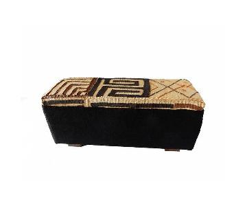 Kuba & Mud Cloth Ottoman