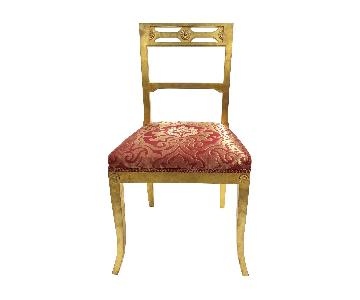 Gold Leafing Side Chair