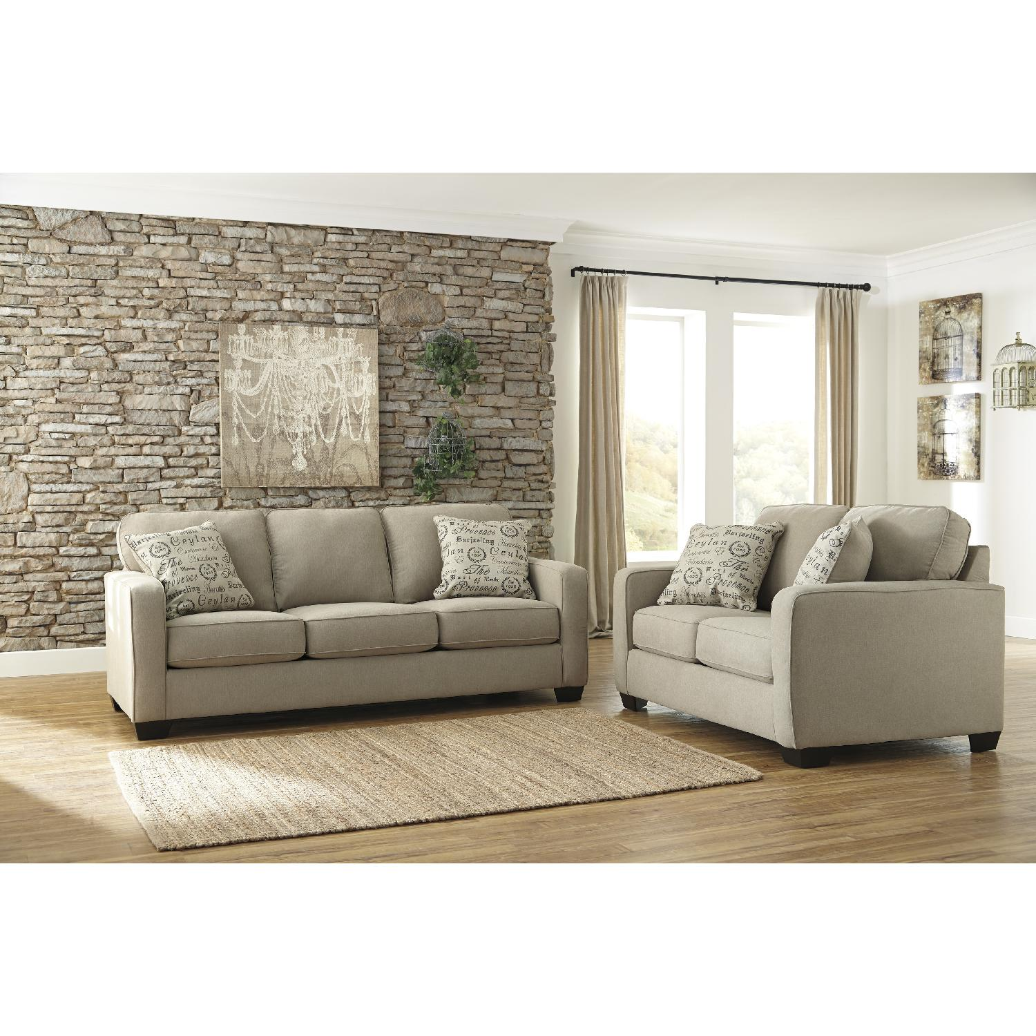 Cool Ashleys Alenya Contemporary Queen Sleeper Sofa In Quartz Ncnpc Chair Design For Home Ncnpcorg
