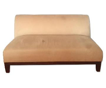 Room & Board Armless Sofa in Honey Color