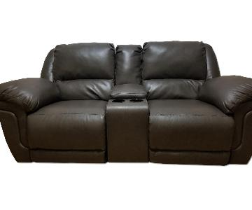 Ashley Leather 2 Piece Reclining Loveseat
